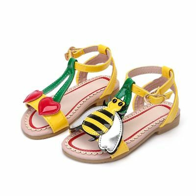 2019 Summer Girls Sandals Flowers With Heart Sharp And Bees Beach Shoes For Baby