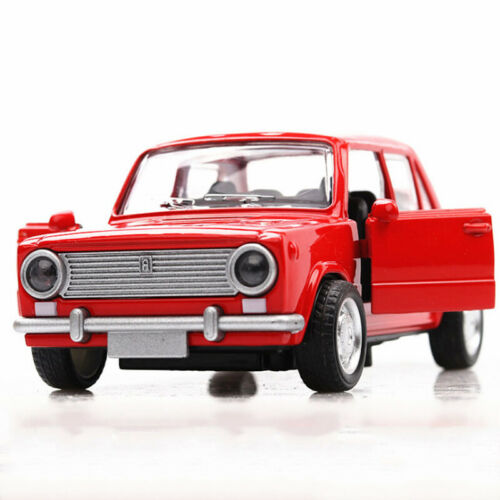 1:36 Vintage Lada VAZ-2101 Scale Model Car Diecast Toy Vehicle Pull Back Red