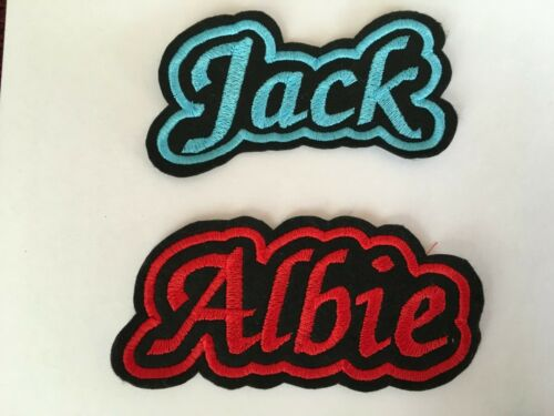 Personalised embroidered name patch//Badge sew on