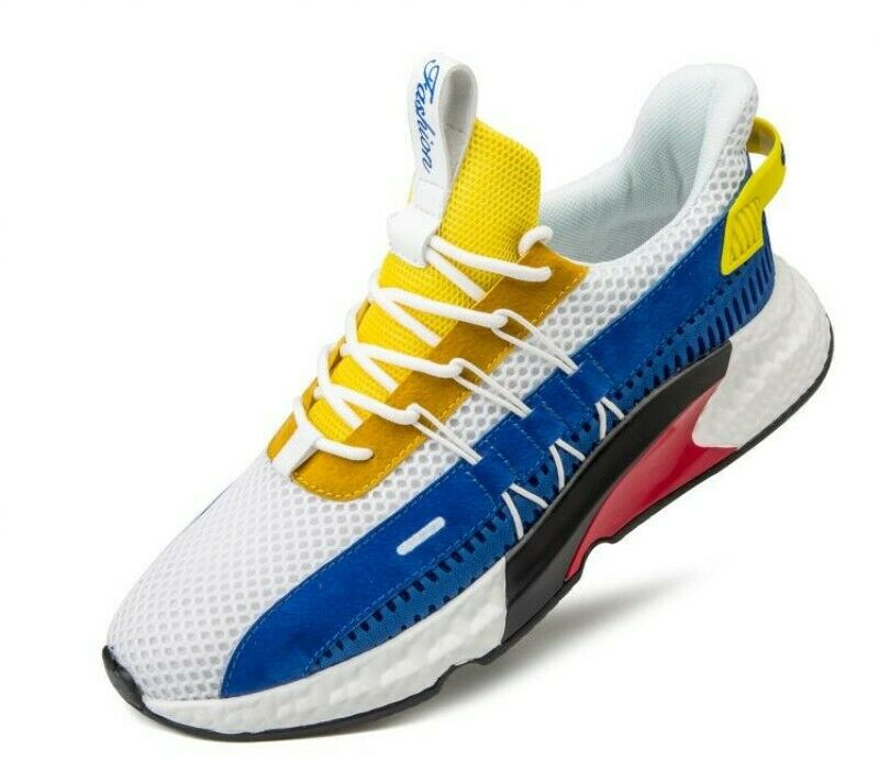 Mens Mesh Trainers Casual Round Toe Lace Up Breathable Athletic Leisure shoes