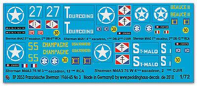 Peddinghaus 2051 1//72 5 Sherman der FFF in der Normandie No 1