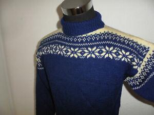 vintage-sweater-Rollkragenpulli-Wolle-80s-strickpulli-80er-wollpulli-oldschool-M