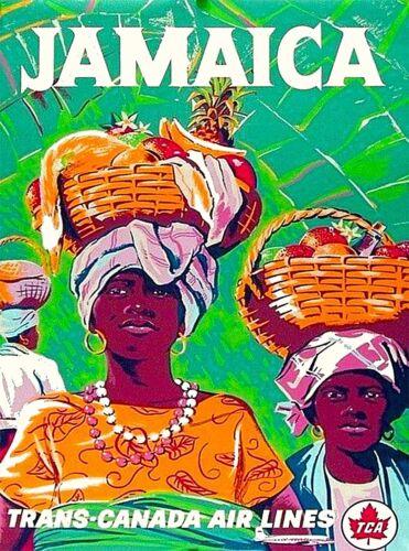 Jamaica Trans-Canada Air Lines Caribbean  Vintage Travel Advertisement Poster