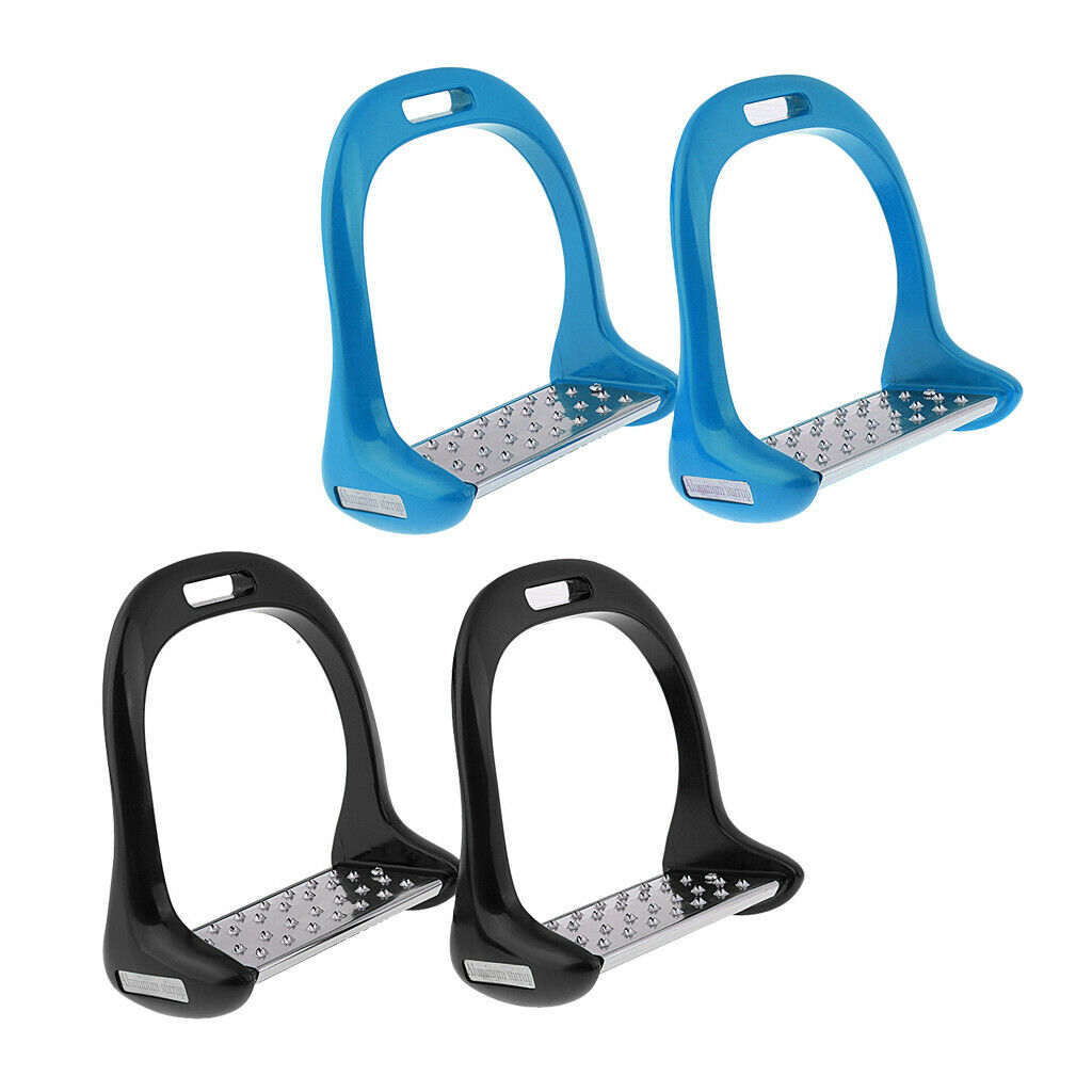 2 Paar Sicherheit Steigbügel Steigbügel Steigbügel Aluminium Reiten Steigbügel Edelstahl  | Feinen Qualität  bf2bed