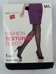 0cc0b41ed75 Image is loading Hanes-Womens-Ladies-Black-Fashion-Textured-Tights-Stockings -