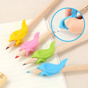 10x Children Fish Pencil Silicon Holder Writing Hold Pen Grip Posture Correction