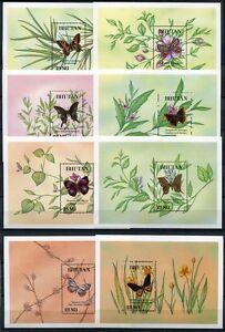 Bhutan-1990-Schmetterlinge-Butterflies-Insekten-Block-237-248-Postfrisch-MNH