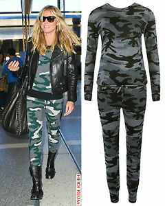 Womens-Co-Ord-Camouflage-Army-Print-Lounge-Jogging-Suit-Ladies-Tracksuit-Set
