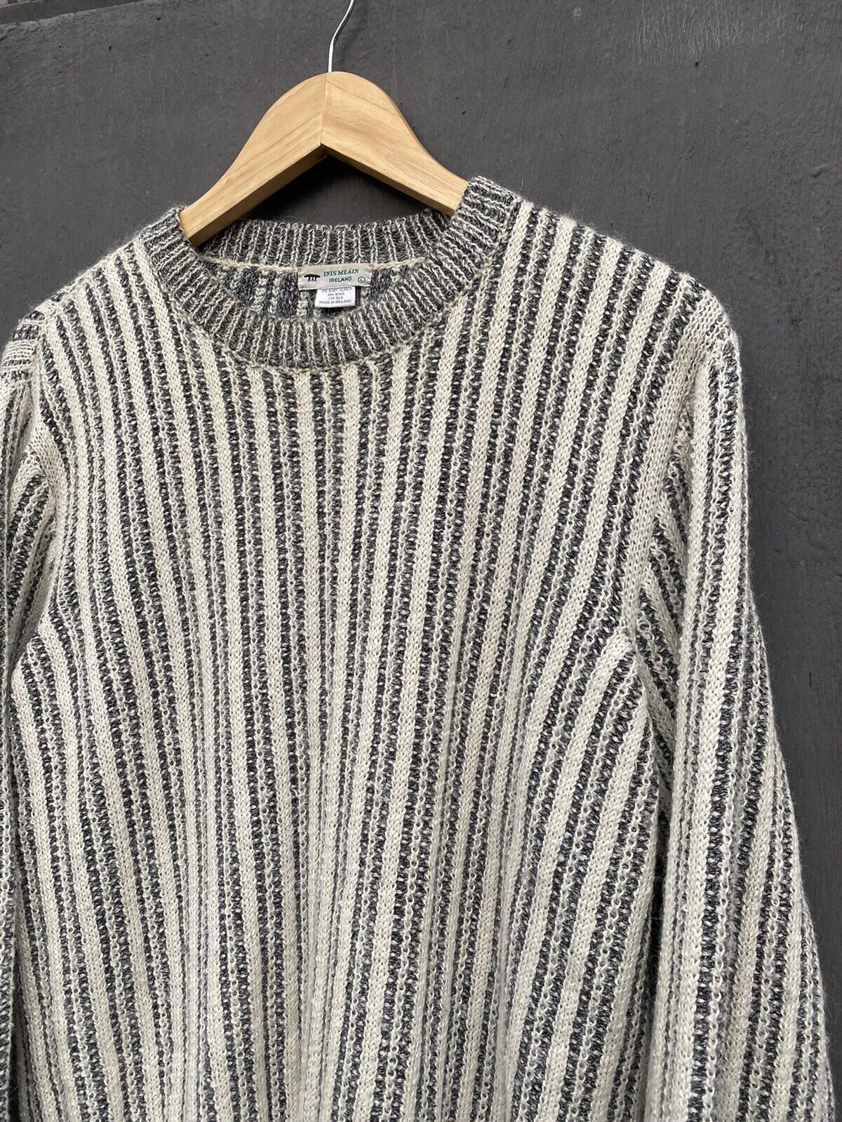 Inis Meain striped alpaca sweater size L - image 2
