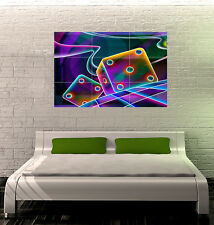 Neon Dice GIANT WALL POSTER ART PRINT 039