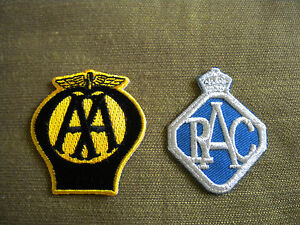 RAC AND AA EMBROIDERED PATCHES
