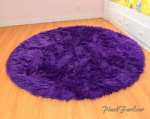Image Is Loading Royal Purple 60 034 Faux Fur Rug Nursery
