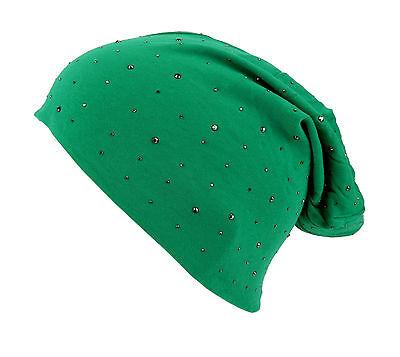 Long Beanie grün Nieten Ella Jonte Baumwolle Elasthan grüne Long Beanie new in