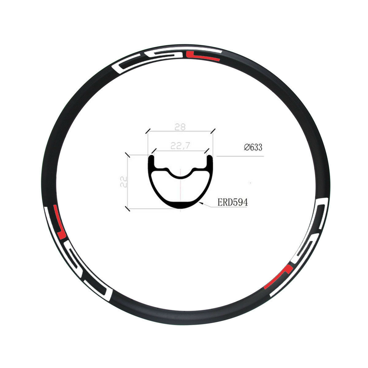 300g 29er MTB carbon Bicycle RIM XC 28mm tubuless Mountain Bike hookless rim