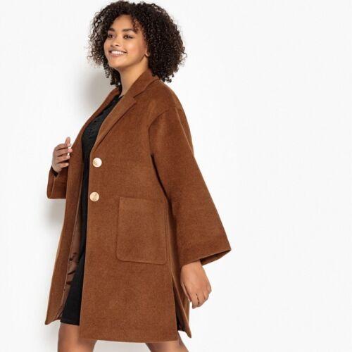 Ladies ref R6 Coat Caramel Oversized Taglia 22 Nuovo Castaluna Shawl dw8adZ