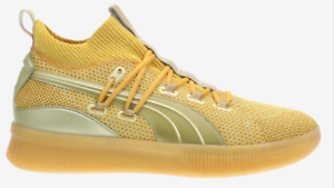 new concept 51214 d0791 Image is loading PUMA-Clyde-Court-Title-Run-Metallic-Gold-192898-