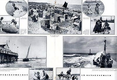 Compiacente Vacanze Sul Mar Baltico 1929 Xxl Doppio Lato Con 9 Fig. Molo Spiaggia Costumi Da Bagno +-mostra Il Titolo Originale Calcolo Attento E Bilancio Rigoroso