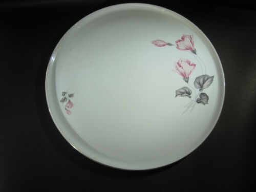 Porcelain 30cm Platter THOMAS GERMANY soft Pink Flower
