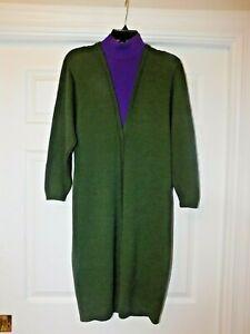 St-John-for-I-Magnin-Vintage-Two-Tone-Knit-Dress-size-4