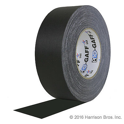 55 yd roll 2 Inch Black Pro Gaffer Gaffers Tape