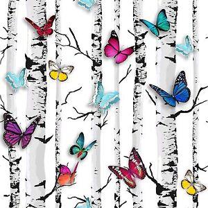 Muriva-EMPEROR-039-S-Papillon-Jardin-Papier-Peint-102529-Bouleau-Arbre-Piece-Decor