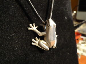 Gunther-Grant-Sterling-silver-FROG-heavy-weight-USA-a