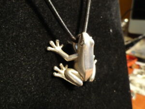 Sterling-silver-FROG-heavy-weight-Gunther-Grant-USA