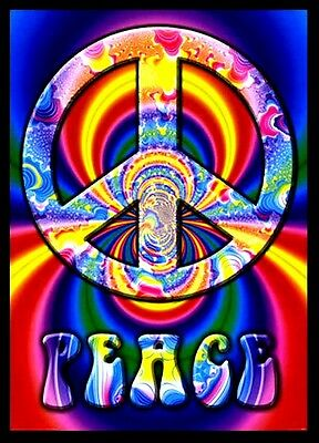 "3.25"" Psychedelic Peace Sign STICKER. Grateful Dead. Great for your bong or pipe"