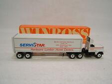 Winross Truck ServiStar Martin's Hardware Lumber Leola PA Ford 9000 w/ Van 1988
