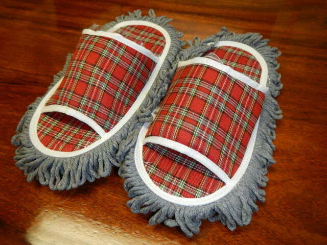 Cleaning Slippers Perfect For Wood Tile Floors Dust Clean The Floor Ebay