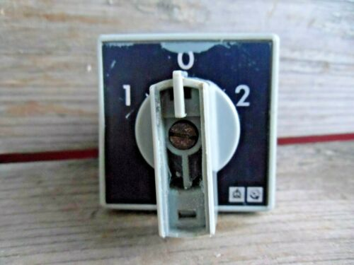 Alter Hauptschalter 16A 660V Schalter 1980 Drehschalter DDR1960