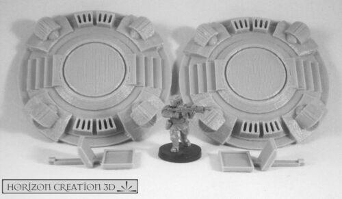 HC3D Tech Terrain Teleporters Wargames Miniatures Scenery 40k 28m 15mm