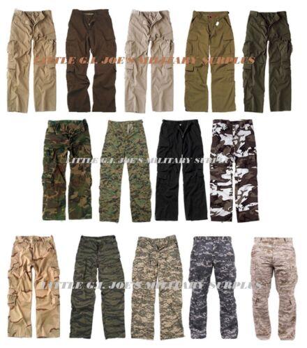 HOT ITEM Camouflage Vintage Military Paratrooper Tactical BDU Fatigue Pants #1