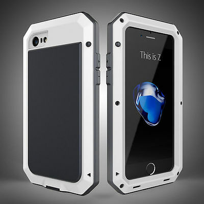 Aluminum Gorilla Glass Shockproof Metal Case Cover for iPhone 5S 6 6S 7 & 7 Plus