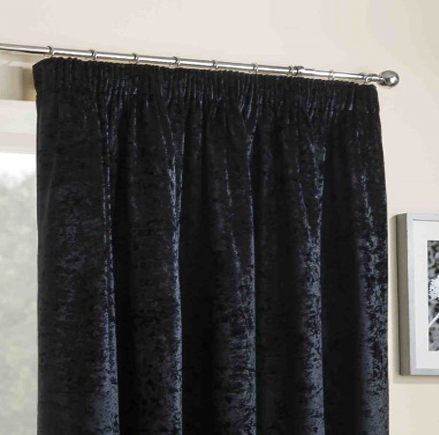 Crushed Curtains Velvet 3 Quot Pencil Pleated Headed Tape