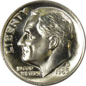 1985-D-10c-Roosevelt-Dime-US-Coin-BU-Uncirculated-Mint-State