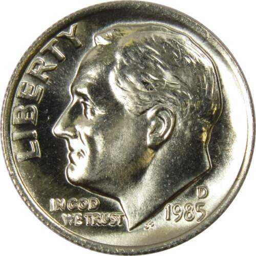 1985 D 10c Roosevelt Dime US Coin BU Uncirculated Mint State
