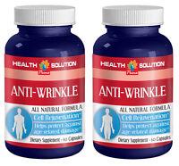 Hyaluronic Acid Powder - Anti Wrinkle Natural Formula - 2 Bottles, 120 Capsules