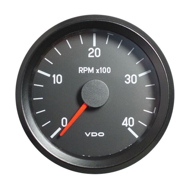 "VDO Rev-Counter Tachometer Gauge 4000 RPM 52mm 2/"" 12V 333-035-029G"