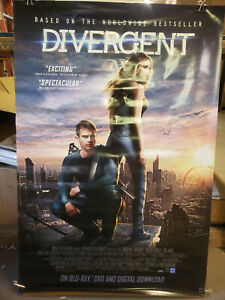 Divergent 2014 26 75x39 5 Rolled Dvd Promotional Poster Ebay