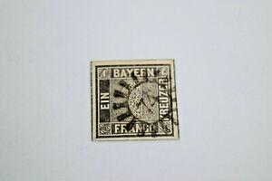 Original Bayern 1 Kreuzer 1849 1Ia and 1IIa Superb Stamped with Certificates