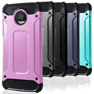 Rigide-Bumper-Coque-pour-Motorola-Moto-Z2-Play-Hybride-Cover-Solide-Protection