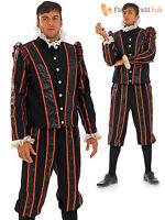 Adults Tudor Earl Costume Mens Blackadder Fancy Dress Medieval King Outfit