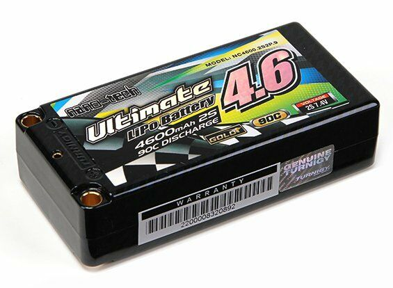 RC Turnigy nano-tech Ultimate 4600mah 2S2P 2S2P 2S2P 90C Hardcase Lipo Short Pack 8ea472