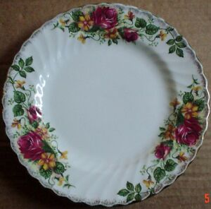Washington-Pottery-Hanley-England-Ironstone-Side-Plate-ENGLISH-ROSE