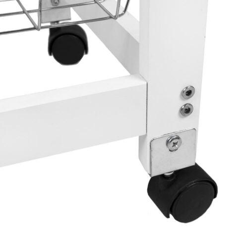 3 tier cuisine chariot chariot en bois blanc panier tiroir de stockage par réduction de la maison