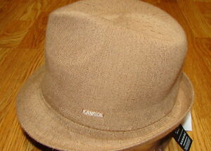 Image is loading KANGOL-Tan-Bamboo-Arnold-Trilby-Hat 662f61ba8f1