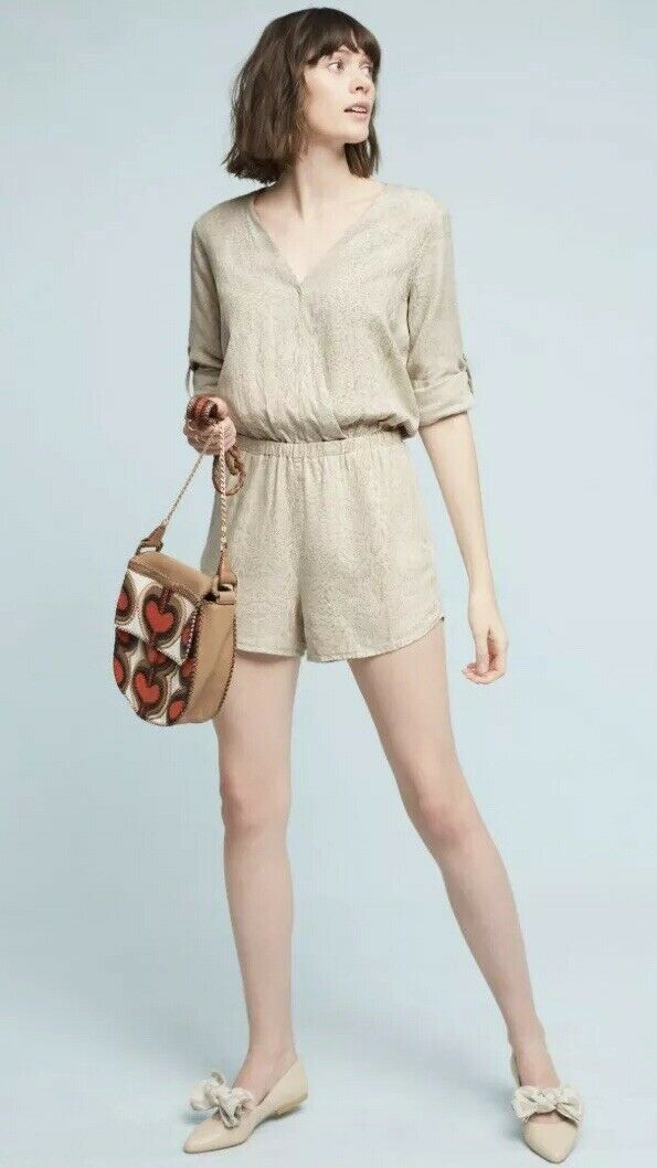 Anthropologie CLOTH & STONE Dahl Romper Size XS