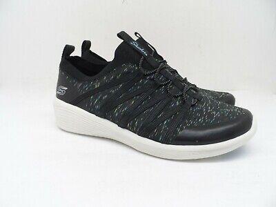 skechers women's slip on casual shoe black/multi size 6m