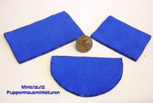 7024# modernos WC 3 piezas azul-casa de muñecas-muñecas Tube m 1zu12